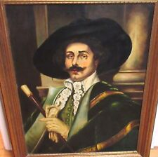 D.ZIGRANG MAN WITH CANE ORIGINAL OIL CANVAS PAINTING 1942