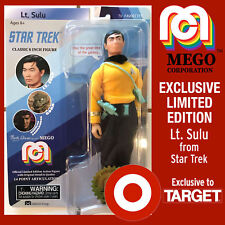 "HTF STAR TREK LT SULU 8"" MEGO ACTION FIGURE TARGET EXCLUSIVE NEW"