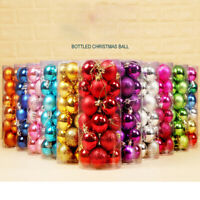 24PC 30mm Christmas Xmas Tree Ball Bauble Hanging Home Party Ornament Decor E