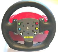 Logitech Red Wingman Momo Force Console Race Wheel With Pedals PlayStation 2