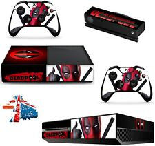 DEADPOOL 3 xbox one skins decals stickers + kinect + 2 controllers