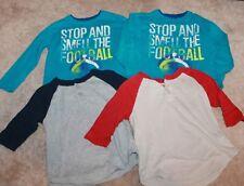 LOT OF 4 * Twin Boys Size 4-5 LONG-SLEEVED T-SHIRTS (Cherokee & Circo; Football)