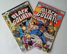 BLACK GOLIATH ISSUE #1+4 Marvel Comics 1976 RARE FN/VF UK VARIANT BLACK PANTHER