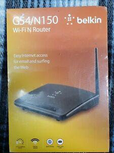 Belkin G54/N150 Wi-Fi N Router F9K1009 Up to 150Mbps NEW IN BOX