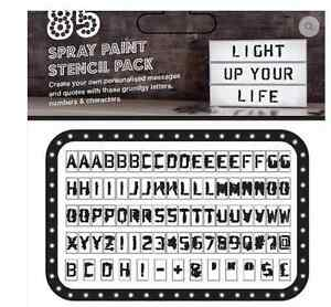 LIGHTBOX ADDITIONAL LETTERS -Spray Paint Style Weddings/Party/Shop/Halloween