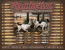 Remington Sporting Cartridges Bullet Chart TIN SIGN Metal Vintage Hunting Poster