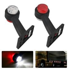 2X LED Side Marker Light Clearance Indicator Lamp Trailer Truck Van Pickup Lorry