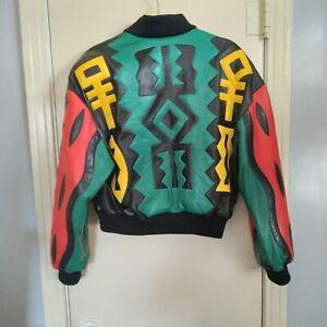 Michael Hoban North Beach Hobo Men's Leather Bomber Zip Up Jacket