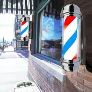 Barber Shop Pole Friseur Rotierendes Licht Barbierstab Werbung Salon Leuchtung