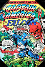 "Marvel Captain America & The Falcon/Gil Kane Vintage Wooden Wall Art 1 19""X13"""