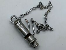 More details for vintage the metropolitan service whistle by j hudson police style lanyard