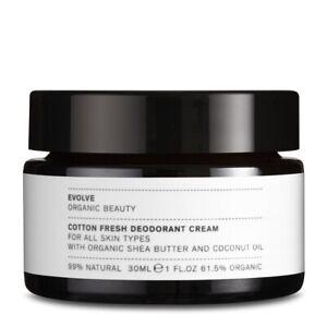Cotton Fresh Deodorant Cream by Evolve Organic Beauty ORGANIC