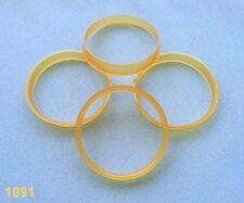 (1091 ) 4 St.  Zentrierringe 66,6 / 65,1 mm orange für Alufelgen