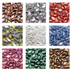 Matubo Gemduo™ Pressed Beads Preciosa Ornela Czech Glass 8x5mm Size 8g Tube