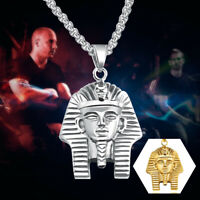Men Hip-Hop Pendant Chain Steel Egyptian Pharaoh Punk Vintage Necklace