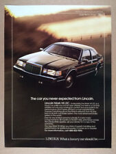 1986 Lincoln Mark VII LSC color photo vintage print Ad