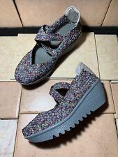 Bernie Mev Lulia Mary Janes Multicolor Wedge Women's Shoe Size 41 EUR 10M US