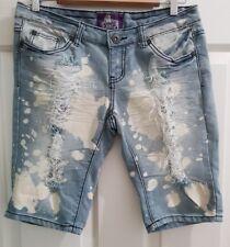 Ladies Size 10-12 Ripped Denim Shorts - M&J Jeans