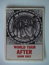 "KISS ""AFTER SHOW ONLY"" 1976 ORIGINAL BACKSTAGE PASS (ROCK & ROLL OVER TOUR)"