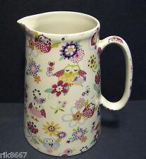 Heron Cross Pottery Owl Chintz 4 Pint English Milk Jug very big (vase