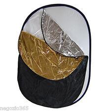 Set Pannello Riflettente 5in1 102x153cm Fondale Bianco Nero Argento Oro Diffusor