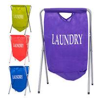 Laundry Hamper Basket Bag Storage Metal Frame Bin Light Weight Folding Clothes