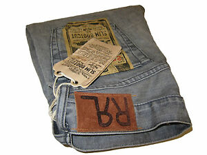 RRL Ralph Lauren Polo Slim Bootcut 30 Light Gray Selvedge Jeans Denim 30 x 30