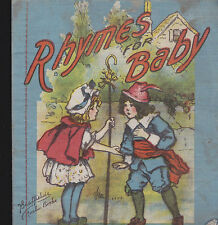 Rhymes for Baby (1918) Saalfield cloth book (6x7) Kids Book