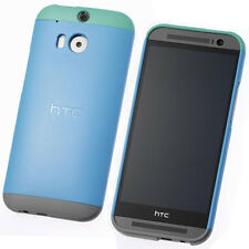 NEW HTC C940 DOUBLE DIP HARD SHELL CASE COVER FOR HTC ONE M8 BLUE GREY 99H11417