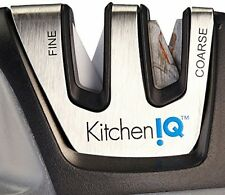 KitchenIQ 50009 Edge Grip 2 Stage Knife Sharpener, Black - Brand New & Sealed !!
