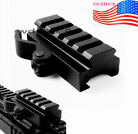US Tactical 5 Slots QD Adapter For 20mm Picatinny Rail Scope Mount Riser Mount