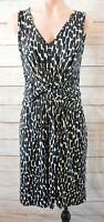 Egerie Paris Dress Size Small 8 10 Black White Sleeveless Shift Dress