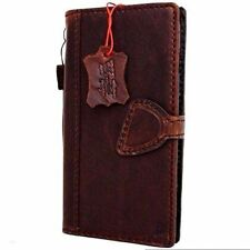 Genuine Leather Case for apple iphone 8 Plus magnet closure cover cards slots uk