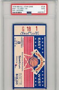 1976 NBA ALL STAR GAME TICKET STUB PSA 2 BASKETBALL DAVE BING MVP RARE VINTAGE !