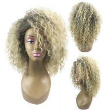 Blonde Kinky Curly Wig Afro American Soft&healthy Synthetic Wigs Fashion Women