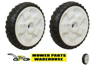 """(2) NEW REPLACEMENT TORO 8 INCH DRIVE WHEELS FWD 22"""" RECYCLER 119-0311"""