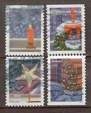 Scott #5145-48 Used Set of 4, Holiday Windows (Off Paper)