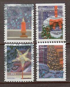 Scott #5145-48 Used Set of 4, Holiday Windows (Off Paper)