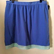 New womens juniors blue skirt XXL blue silky pockets elastic waist Mossimo