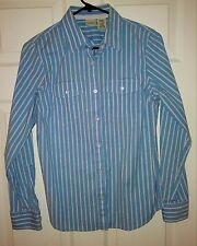 L.L.Bean Women's Casual Multi-Color Long Sleeve Button Down Shirt Size Small