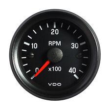 """VDO Cockpit International Tachometer Gauge 4000 RPM 52mm 2"""" 12V 333-035-029G"""