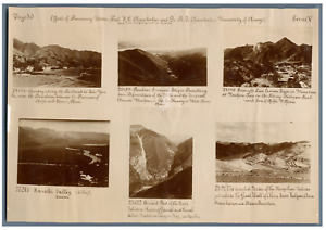 Effects of Running Water  Vintage print. 6 photos 4 x 6 cm. Italy,  China, Hawai