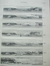 ANTIQUE PRINT C1880'S CLOUDS ENGRAVING WEATHER DIAGRAMS FROM THE SEA ILLUSTRATED