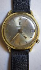 Vintage 1977 Bulova Accutron Gold Filled Watch w/ Date 2191.10 N7 Tuning Fork