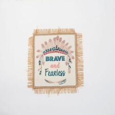 Native American Brave Fearless (Sew On) Embroidery Applique Patch Sew Iron Badge