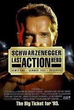 "Last Action Hero movie poster (a) 11"" x 17"" - Arnold Schwarzenegger"