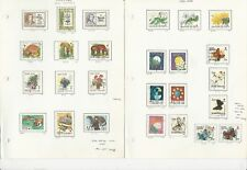 Finland Collection on 3 Pages, All Different Semi Postals, 1979-1998