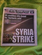 NEW YORK POST 4/14/18 Syria Strike  Mets Catching A Wave Knicks Sabathia Comey