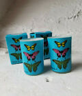 Christopher Vine Australia Mini Soy Candle Set Blue With Butterflies New In Box
