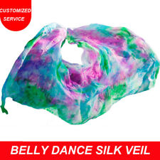 New arrivals cheap women belly dance silk veil on sale tie-dyed color